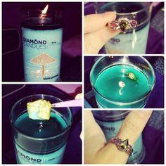 Diamond Candles  islandgetaway ~ ringreveal