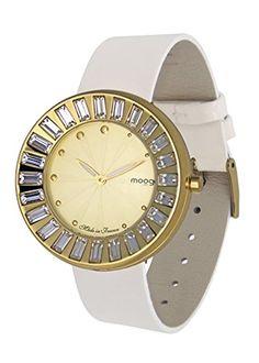 Moog Paris-Sunshine Damen-Armbanduhr Zifferblatt Champagner Armband Weiß Leder Rindleder, hergestellt in Frankreich-m45432-001 - http://uhr.haus/moog-paris/moog-paris-sunshine-damen-armbanduhr-champagner-2