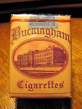 Vintage 1930's BUCKINGHAM Un-Opened Cigarette Full Pack BAGLEY & CO.