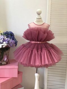 Baby Girl Birthday Dress, First Birthday Dresses, Baby Girl Party Dresses, Little Girl Dresses, Girls Dresses, Flower Girl Dresses, Dress Girl, Dress Party, Party Dresses For Kids
