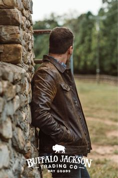 This vintage style brown leather jacket gives any outfit a classic rugged aesthetic. Keep it classy and casual — the more you wear this biker jacket, the better it looks and feels. Great gift for men! Brown Leather Jacket Men, Leather Men, Leather Jackets, Dope Outfits For Guys, Casual Professional, Great Gifts For Men, Vintage Fashion, Vintage Style, Denim Fashion