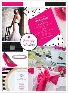 A modern wedding for a modern couple. Set the tone from the very start by choosing a bold, modern wedding invitation.  Available at walmartstationery.com