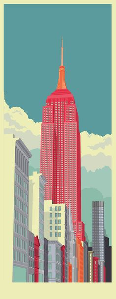 Colorful Illustrations of Popular Locations in New York City by Remko Heemskerk