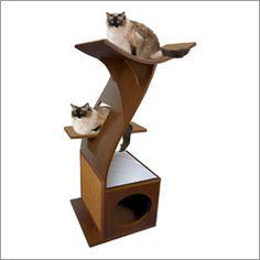 like kittyville mid century cat bed Cat Tree Pinterest