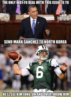 Mark Sanchez Overthrows Everyone Nba Memes, Football Memes, Sports Memes, Elmo Memes, Nfl Jokes, Nfl Football, Funny True Quotes, Stupid Funny Memes, Funny Laugh