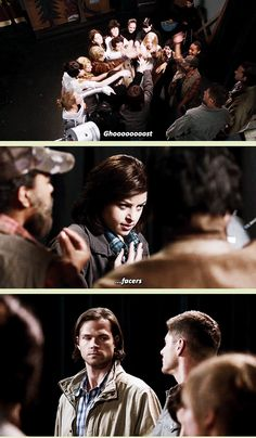 [GIFSET] 10x05 Fan Fiction #Supernatural #Supernatural200th /// that look was hilarious!!!