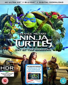 Teenage Mutant Ninja Turtles: Out Of The Shadows (4K UHD Blu-ray + Blu-ray + Digital Download)