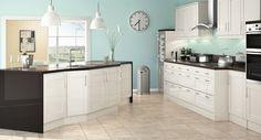 Kensington Gloss Cream Kitchen Cream Gloss Kitchen, Kitchen Inspiration, Kitchen Ideas, Shaker Kitchen, Kitchens, Kitchen Cabinets, Colors, Interior, Life