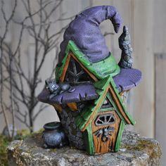 Fiddlehead Fairy Village Witch Hat House