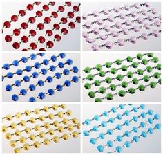 6FT Diamond Garland Glass Crystal Octagon Beads 14mm Wedding Chandelier Parts #Magicbeads