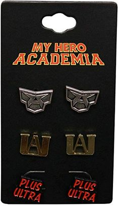 My Hero Academia Earrings Set - 3 Pack My Hero Academia Merchandise, Anime Merchandise, My Hero Academia Memes, Buko No Hero Academia, My Hero Academia Manga, Cosplay Outfits, Anime Outfits, All Might Cosplay, Anime Fnaf