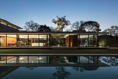 The GG House by Sommet in Santa Cruz de la Sierra, Bolivia is a luxurious contemporary home open to the outdoors. Modern Architecture House, Residential Architecture, Modern House Design, Architecture Details, Interior Architecture, Home Building Design, Building A House, House Extensions, Glass House