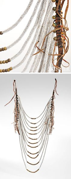 Northern Plains | Necklace; hide, leather and glass beads | ca. last quarter 19th century | 3'321$ ~ sold (Mar '15)