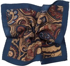Blue wool large paisley from Suit Supply