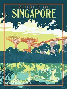 Copyright 2020 Little Blue Dog Designs Fun Prints, Poster Prints, Singapore Travel, Travel Illustration, Art For Art Sake, Vintage Travel Posters, Dog Design, Color Themes, Wall Collage