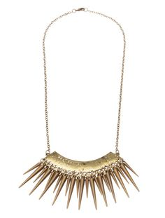 UNDISTURBED ROYALTY | Necklace with Spikes - Women - Style36  #RihannaStyle36 Spikes, Playing Dress Up, Rihanna, Tassel Necklace, Celebrity Style, Royalty, Celebrities, Womens Fashion, Jewelry