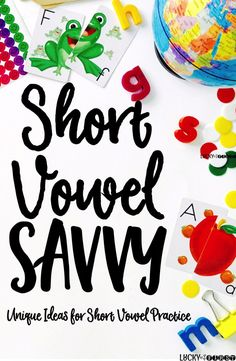 I'm always looking for new ways to mix up how we practice our short vowel words. I get bored looking at their work sometimes, so I imagine they get bored doing the same activities all the time! {Tell me I'm not the only one!}