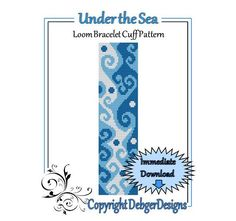Bead Pattern LoomBracelet CuffUnder the Sea   by LoomTomb on Etsy