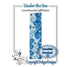 Under the Sea   Loom Bracelet Cuff Pattern by LoomTomb on Etsy, $4.50