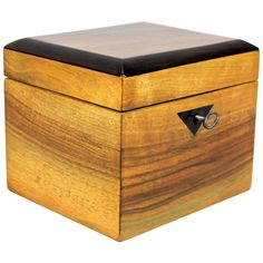 For Sale on - The next amazing wooden box in our collection. This time we present a gorgeous Biedermeier jewelry box made with fine nut wood veneer and shows a palisander