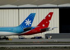 South Pacific flyers Air Tahiti Nui and V- Australia Air Tahiti, Tahiti Nui, Fly Air, South Pacific, Flyers, Airplane, Aircraft, Australia, Logos
