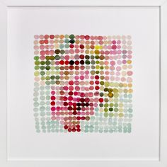 Art inspiration. still life of bouquet in dots by Cindy Lackey at minted.com