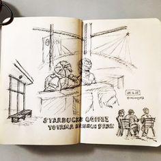 starbucks coffee toyama kansui park #moleskine