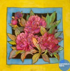 silk painting flower design