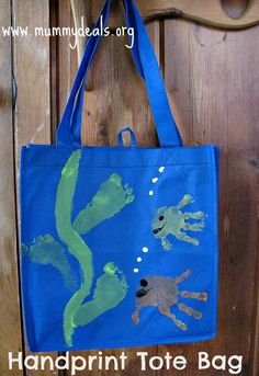 Tote Bag Mother's Day Craft For Kids from #mummydeals.org #mom #mothersday