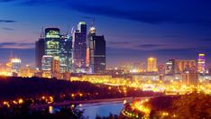 Moscow has a humid continental climate and its architecture is world-renowned. Description from tourist-destinations.com. I searched for this on bing.com/images