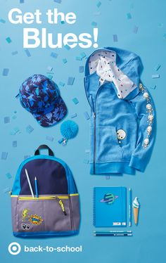 Keep it cool for back-to-school with calm, cool blue clothes, accessories and supplies. Just check out this adorably designed blue Toca Boca hoodie! What can you pack inside a blue & gray Cat & Jack backpack? Everything from a blue(berry) ice cream pen, and blue notebook, to an all-blue yoobi school supplies kit and even a blue monster pencil case!
