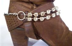 Cowgirl Sparkle Boot Bracelet by BootBooti on Etsy