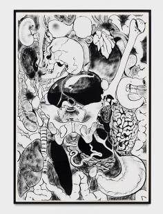 Microcosm Mike Kelley 1988 acrylic on paper 60 1/4 x 41 3/4 in. (153.04 x 106.05 cm)