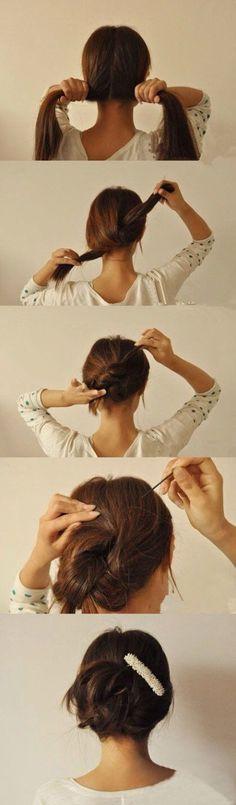 머리예쁘게묶기