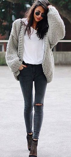 #fall #fashion / heavy knit