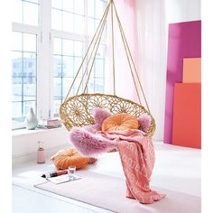 Hängesessel, individuelle Ornamente, Metallgestell, Polypropylen   Sessel   Sitzmöbel   Living
