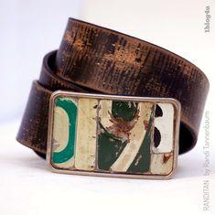 Green 9 Belt Buckle 6 vintage license plate metal by randitan Mens clothing inspiration Sharp Dressed Man, Leather Men, Leather Belts, Vintage Leather, Brown Leather, Belt Buckles, Cuff Bracelets, Fashion Accessories, Mens Fashion