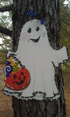 Personalized Ghost Door Hanger