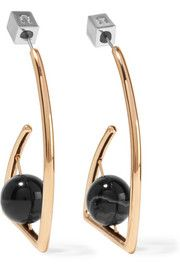 URiBEBeatrix gold-plated agate earrings