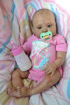 OOAK Reborn baby girl with 3d skin Stacia  art doll artist newborn aa biracial