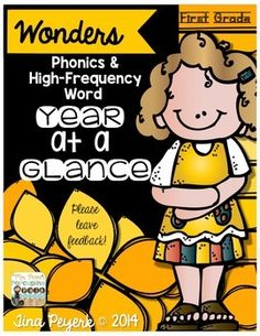 Need a one-page resource to help with planning? Phonics and HFW Year at a Glance for First Grade.
