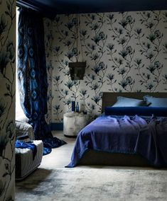 blue bedroom romantic bedroom wall paper bedroom wall accent french bedroom mattress cover nighslee memory foam mattress for back pain Romantic Bedroom Colors, Floral Bedroom, Bedroom Wall Colors, Blue Bedroom, Beautiful Bedrooms, Bedroom Eyes, Blue Rooms, Best Wall Colors, Bedroom Furniture