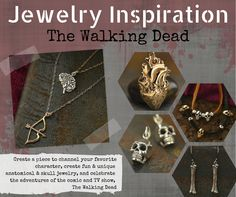 Jewelry Inspiration :: The Walking Dead   Bring The Walking Dead inspired jewelry alive (or back from the dead) with our curated collection! You'll find all the jewelry supplies you'll need to make this fun, spooky, and unique look yours! Celebrate your love for the TV show or the comic books by making a themed jewelry design.  Show now :: http://www.ninadesigns.com/bali_bead_shop/list/the_walking_dead_collection/w/newest/40/1