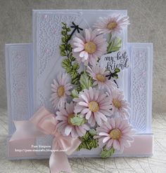 """Hello Everyone, Sharing my DT samples for Tattered Lace """"Petals Of Lace Collection"""" Launching on Create and Craft TV Thursda. Silhouette Cameo Free, Create And Craft Tv, Tarjetas Pop Up, Stepper Cards, Tattered Lace Cards, Handmade Birthday Cards, 70th Birthday Card, Lace Flowers, Paper Cards"""