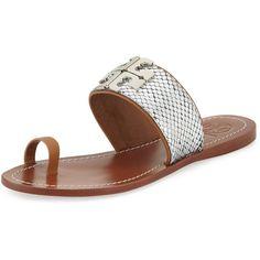 276af438377c Lowell 2 Snake-Embossed Toe-Ring Sandal