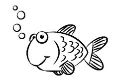 Simple Kid Preschool Coloring Pages Fish - Animal Coloring pages . Fish Coloring Page, Preschool Coloring Pages, Cute Coloring Pages, Coloring Sheets, Colouring, Fish Drawing For Kids, Easy Drawings For Kids, Easy Animal Drawings, Fish Drawings