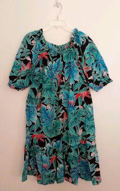 HILO HATTIE Hawaiian Muu Muu Dress Womens Size XL #HiloHattie #MuuMuuCaftan #Casual