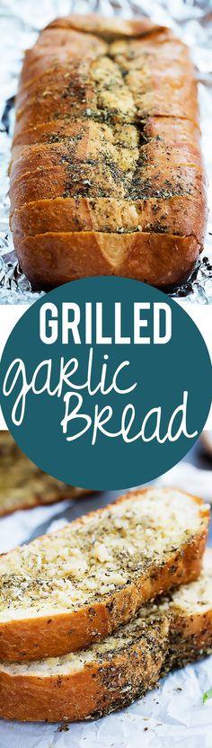 Easy Buttery Grilled Garlic Bread | Creme de la Crumb