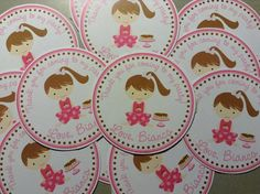 Pancakes and Pajamas Favor Tag Or Stickers by CustomParty4U