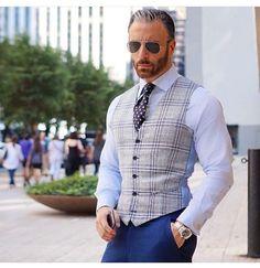 Christopher Korey at DuckDuckGo Mens Fashion Blazer, Suit Fashion, Stylish Men, Men Casual, Gilet Costume, Men's Waistcoat, Designer Suits For Men, Designer Clothes For Men, Men Formal